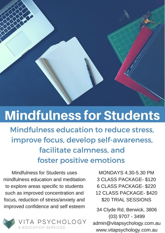Mindfulness program | Vita Psychology | Berwick